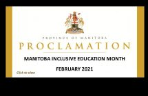 Province proclaims February 2021 Inclusive Education Month